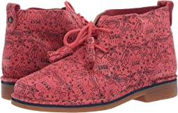 Poppy Red Print Suede