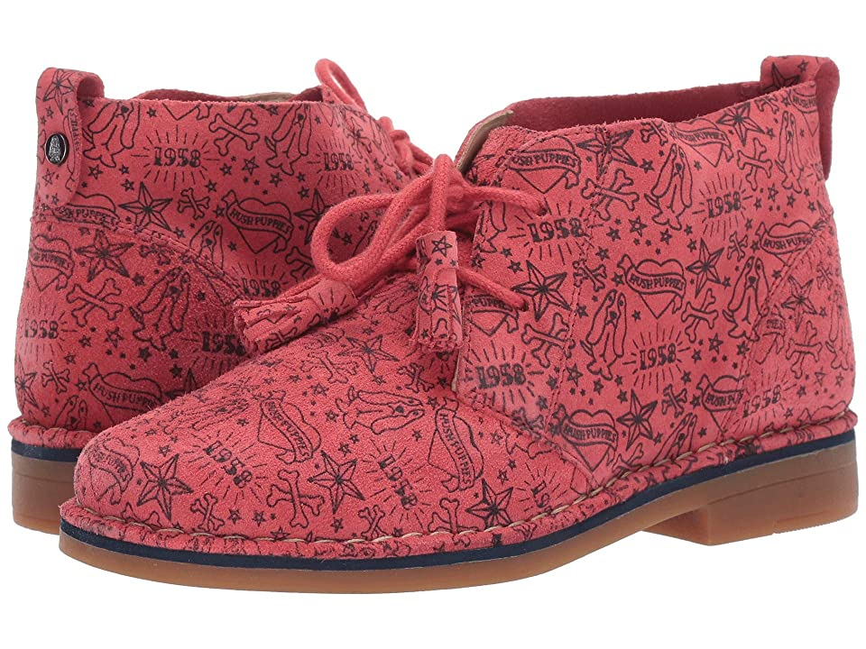 Hush Puppies Cyra Catelyn (Poppy Red Print Suede) Women