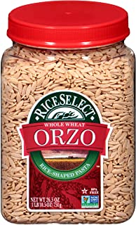 RiceSelect Orzo Whole Wheat Pasta, 26.5 oz Jars (Pack of 4), Multi (905640)