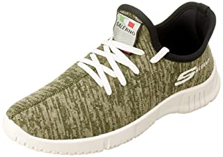 Salerno Heather Textile Logo Detail Lace-up Sneakers for Men