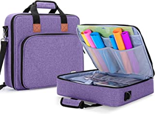Luxja Carrying Bag for Cricut Accessories and Laptop (Fits for Most Brands), Purple