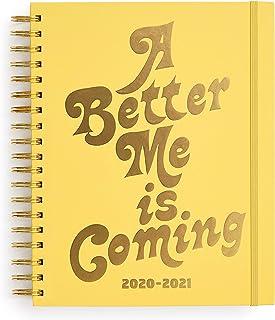 مخطط يومي كبير 17 شهرًا 2020-2021 مع مناظر أسبوعية وشهرية، أغسطس 2020 - ديسمبر 2021، مخطط العناية الذاتية بغطاء صلب مع ملص...