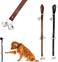 Mighty Paw Leather Tinkle Bells, Premium Leather Dog Doorbells, Extra Soft Leather with Durable Jingle Bells, Housetraining Doggy Door Bells for Potty Training, Includes Free Wall Hook
