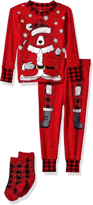 Petit Lem Holiday Baby Pajama Set Cute and Cozy Softness Comfy