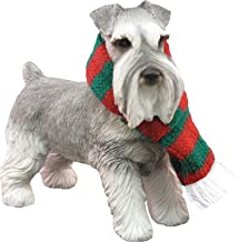 Sandicast Original Size Gray Schnauzer Sculpture - Sitting, Gray, Ornament