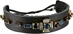 Chan Luu - Leather Adjustable Bracelet with Crystals