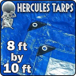 EasyGO Tarp2-8x10-2 Tent Shelter Cover Waterproof Tarpaulin Plastic Tarp, 8' x 10', 8x10