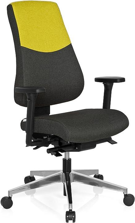 Sedia da ufficio, 100% poliestere, multicolore, 46.00x55.00x129.00 cm hjh office pro-tec 600 608828