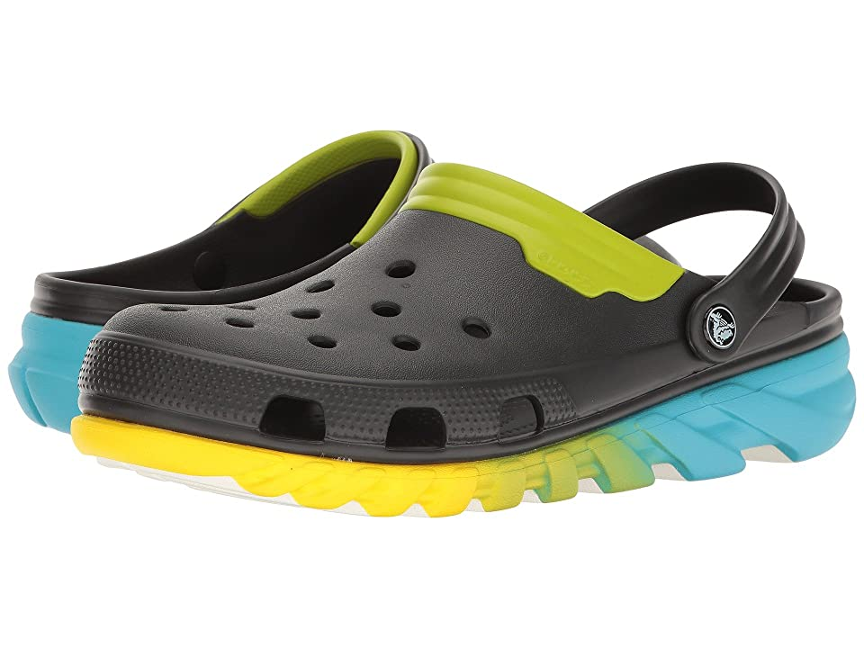 Crocs Duet Max Ombre Clog (Black/Green) Clog Shoes