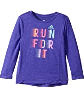 adidas Kids - Winning Vibes Melange Top (Toddler/Little Kids)