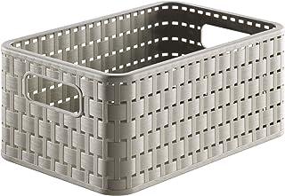Rotho Country - Caja de almacenaje con efecto de mimbre,