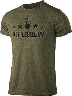 Jumpbox Fitness Join The Kettlebellion Military Green Men's Kettlebell Triblend Workout T-Shirt