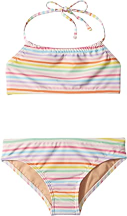 Toobydoo - Rainbow Bandeau Halter Bikini (Infant/Toddler/Little Kids/Big Kids)
