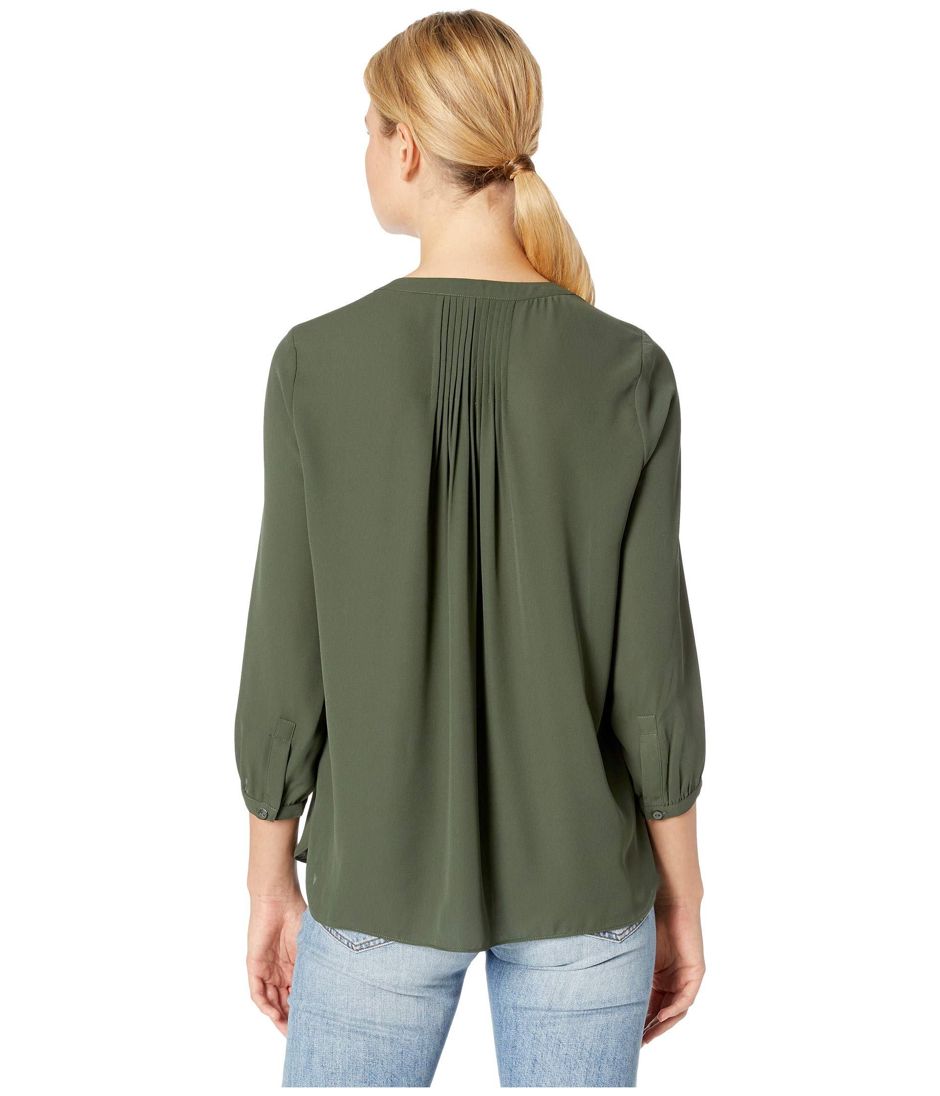 W Pleated Sugar Blouse Back Pine Nydj Bw5qx