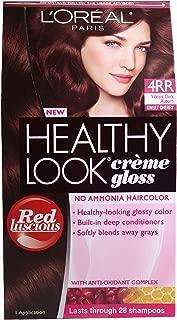 L'oreal Paris Healthy Look Crème Gloss (Pack of 3) (Vibrant Dark Auburn 4RR)