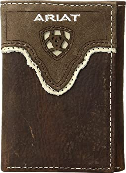 Ariat - Shield Cut Out Overlay Trifold Wallet
