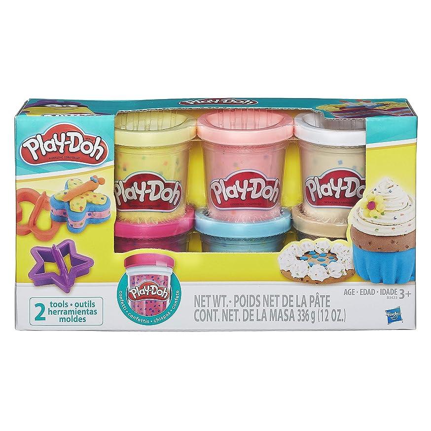 Play-Doh B3423EU6 Confetti Dough for Imagination and Creative Play, Multi-Colour