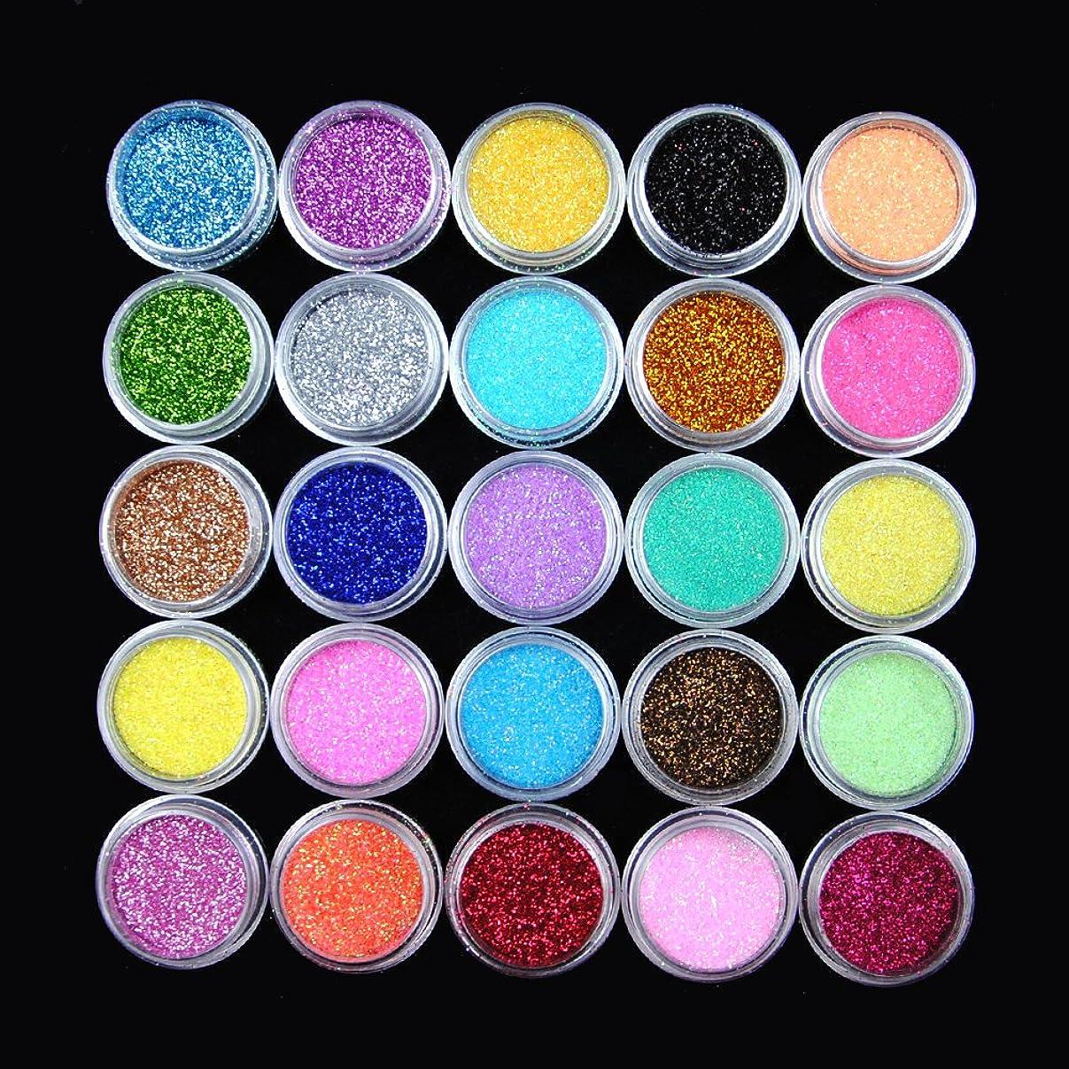 キルト学者無線ユニークモール(UniqueMall)25色セット 発色いい ダリッター ラメ ネイルデコ レジン用 ジェル用顔料 パール顔料25色セット カラーパウダー