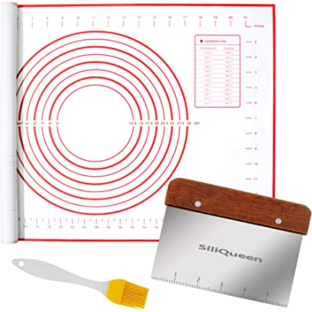Simple Baker Extra Thick Extra Large Silicone Pastry Mat with Measurement