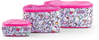 JuJuBe x Hello Kitty | Be Organized | Compact Packing Cubes for Use with JuJuBe Totes, Diaper Bags + Backpacks | Travel Sized Pouches | Hello Bakery | 3 Pack