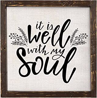 Brownlow Gifts It is Well with My Soul Framed Linen Sign