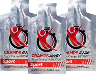 CrampsAWAY Sport - 3 Pack/All Natural, Instant Relief for Muscle Cramps, Including Leg, Foot, Calf, Hand and Night Cramps Too.