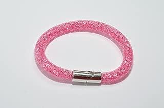 Stardust Bracelet Pink Breast Cancer Awareness Bling Crystal