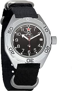Vostok Amphibian AUTO WR 200m Tank Forces Dial Mens Self-Winding Amphibia Case Wrist Watch #670306