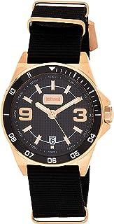Just Cavalli Mens Quartz Watch, Analog Display and Textile Strap JC1G014L0035