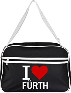 Bolso Retro Classic I Love fürth colour negro