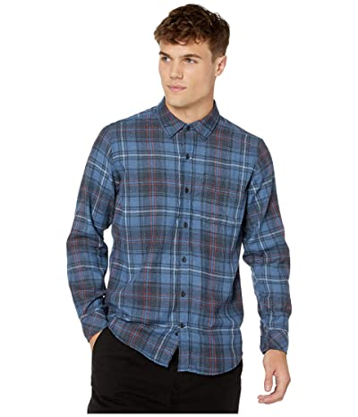 Hurley Vedder Washed Flannel (Mystic Navy) Men