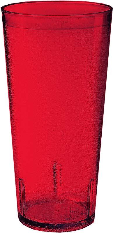 Red 20 Oz Plastic Tumblers Break Resistant 6620 1 R EC Pack Of 4