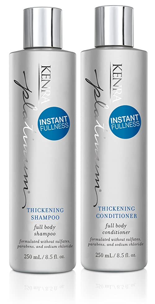 Kenra Platinum Thickening Shampoo and Conditioner Set, 8.5-Ounce