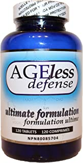 DrinkHRW Ageless Defense Ultimate Formulation | Inhibits Advanced Glycation End Products | 120 Tablets