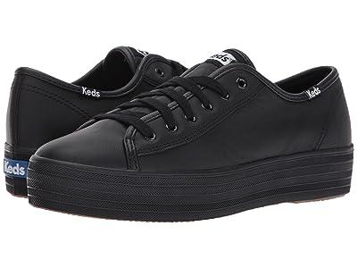 Keds Triple Kick Leather (Black) Women