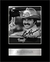 iconic pics Burt Reynolds Signed Mounted Photo Display Smokey and The Bandit Autographed Gift Picture Print