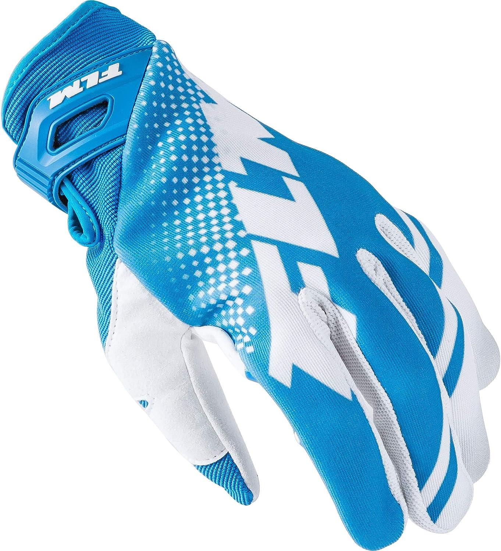 Flm Motorradhandschuhe Kurz Motorrad Handschuh Crosshandschuh 1 0 Weiß Blau 11 Herren Cross Offroad Ganzjährig Textil Bekleidung