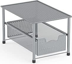 Simple Houseware Stackable Under Sink Cabinet Sliding Basket Organizer Drawer, Silver