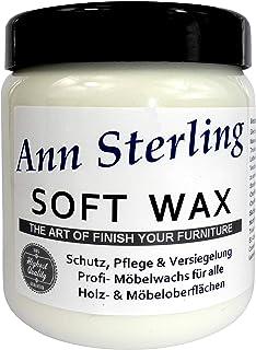 Ann SterlingSoft Wax Wachs Möbelwachs Shabby Chic Holzwachs Versiegelung Finish Wachs Kalkwachs 500ml, Weiß