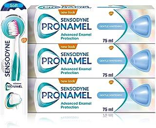 Sensodyne Pronamel Emalj Vård Mild Blekande Tandkräm x 3 & Tandborste x 1