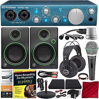 PreSonus AudioBox iTwo USB 2.0 Recording Interface W/ Platinum Studio Bundle + Mackie CR Series CR3 - 3