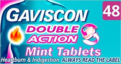 Gaviscon Double Action Tablets Heartburn and Indigestion, Pack of 48