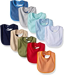 Hudson Baby Unisex Baby Drooler Bib with Waterproof Lining, Blue, One Size