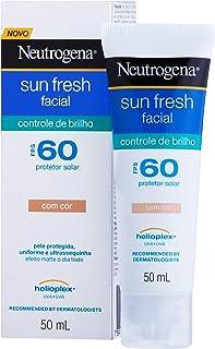 Protetor Solar Sun Fresh Facial Controle de Brilho com Cor FPS 60, Neutrogena, 50Ml