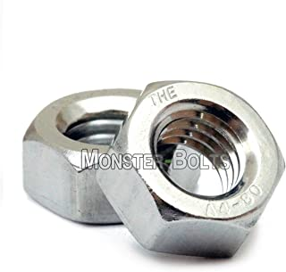 (10) M8 x 1.25 Marine Grade Stainless Steel Hex Nuts, A4 (316) DIN 934 Metric Coarse Thread M2, M3, M4, M5, M6, M8 - MonsterBolts (10, M8-1.25)