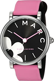 Marc Jacobs Women's Classic' Quartz Stainless Steel and Silicone Casual Watch, Color:Pink (Model: MJ1622)