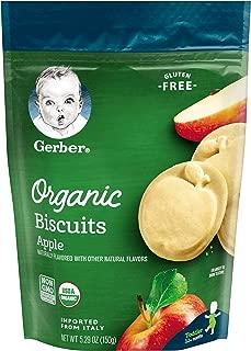 Gerber Graduates Organic Gluten Free Biscuits, Apple, 6 Count
