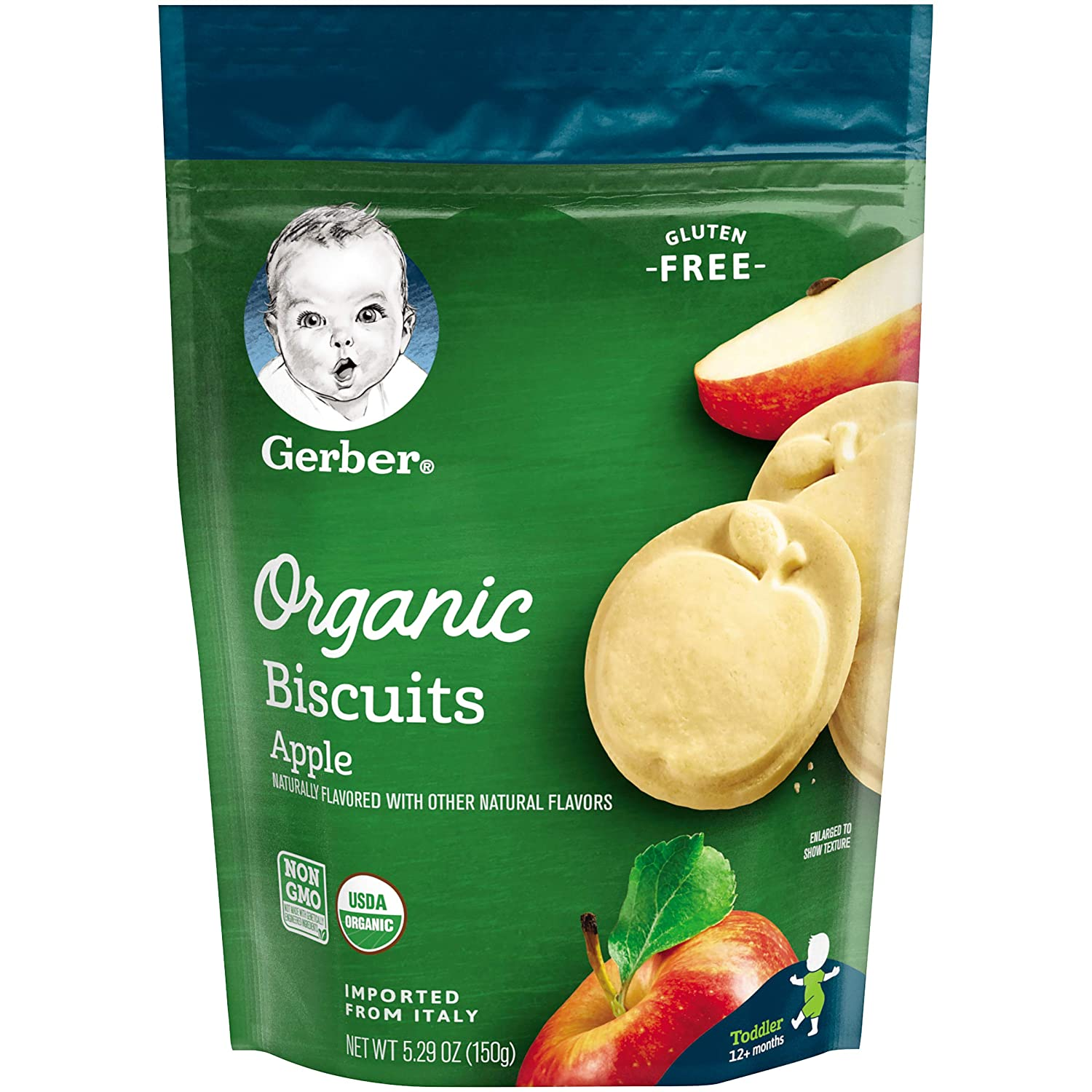 online shopping Gerber Organic Gluten Free Apple oz 2021 autumn and winter new 5.29 Biscuits