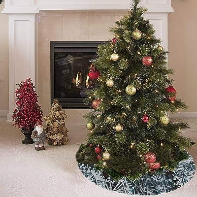 Falda de árbol de Navidad Hermoso jardín Floral Dandelion Print Falda de árbol de otoño Poliéster Niños Falda de árbol de Navidad Alfombra para fiesta Decoraciones navideñas Adornos de Navid: Amazon.es: Hogar