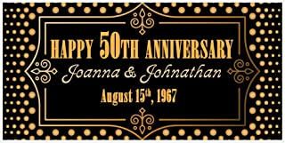 Best banner 50th wedding anniversary Reviews